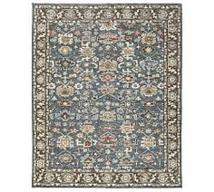 Washable Sufjan Jute Hand Knotted Rug Denim 859 00