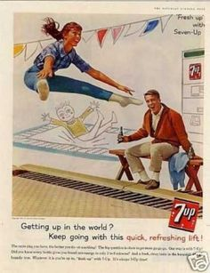 """Seven-up Ad """"Getting Up In the World... (1961)"""