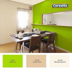 #comedor #deco #decoración #Ceresita #CeresitaCL #PinturasCeresita #colores #espacio #ambiente #pinturas *Códigos de color sólo para uso referencial. Los colores podrían lucir diferentes, según calibrado de su monitor.
