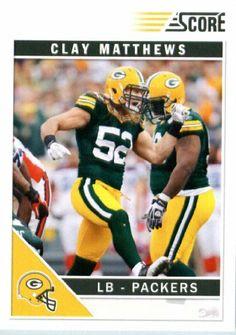 2011 Score Football Card # 105 Clay Matthews - Green Bay Packers - NFL Trading Card In a Protective Screwdown Case! by SCORE. $2.95. 2011 Score Football Card # 105 Clay Matthews - Green Bay Packers - NFL Trading Card In a Protective Screwdown Case!