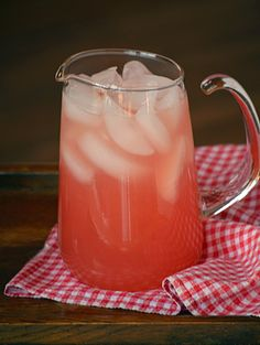 Watermelon Lemonade: Pure Grace Farms is perfect for a hot day. Refreshing Drinks, Fun Drinks, Yummy Drinks, Yummy Food, Cold Drinks, Cocktails, Non Alcoholic Drinks, Smoothie Drinks, Smoothies