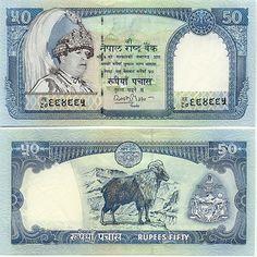 Nepal  50 Rupees (2003) (King Gyendra; mountain goat)