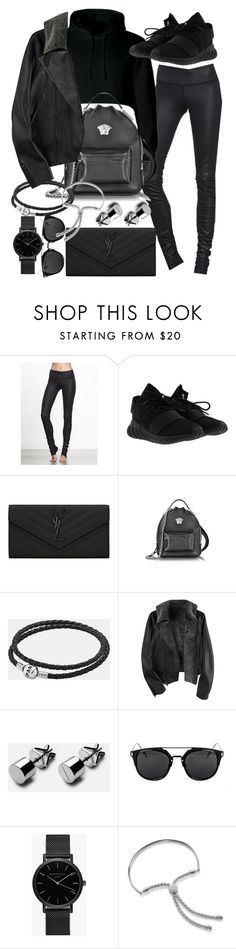 """""""Untitled #20837"""" by florencia95 ❤ liked on Polyvore featuring adidas, Yves Saint Laurent, Versace, Pandora, ROSEFIELD and Monica Vinader"""