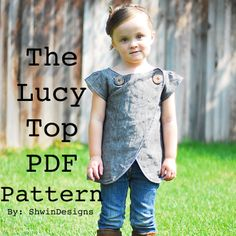 Sew Country Chick: Stylish Kids Patterns For My Big List Sewing For Kids, Baby Sewing, Free Sewing, Tunic Sewing Patterns, Clothing Patterns, Dress Patterns, Sewing Clothes, Diy Clothes, Diy Vetement