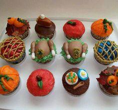 Thanksgiving cupcakes (: