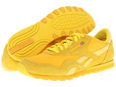 Reebok Lifestyle Classic Nylon Slim Boldly Yellow/Yellow Thread/Hazy Yellow - Zappos.com Free Shipping BOTH Ways