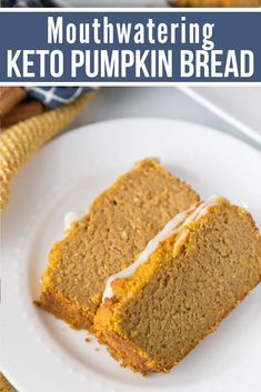 This moist and delicious easy Keto Pumpkin Bread tastes amazing with just the right amount of pumpkin-spice flavor! It is super quick to make even for the inexperienced baker. Quick Bread Recipes, Quick Easy Meals, Keto Recipes, Dessert Recipes, Easy Bread, Easy Pumpkin Recipes, Easy Recipes, Best Low Carb Recipes, Dessert Bread