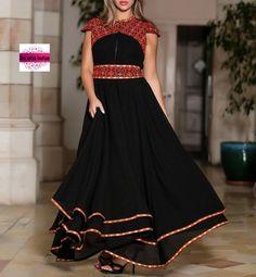 Afghan Clothes, Afghan Dresses, Saree Blouse Neck Designs, Kurta Designs, Stylish Dress Designs, Stylish Dresses, Abaya Fashion, Fashion Dresses, Palestinian Embroidery
