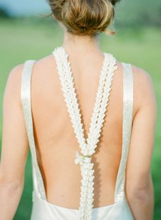 Floral wedding jewelry: http://www.stylemepretty.com/2017/04/21/an-elegant-island-style-elopement/ Photography: Aria Studios - http://www.ariastudios.com/