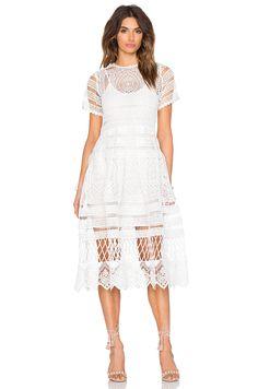 Alexis Alanna Midi Dress in White