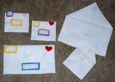 mail - would be cute to incorporate a little post office inside the market I'm building for my girls...need to make a mail carrier bag, stamps, envelopes, mail, postcards, mailbox, address labels, hat, a few different sized packages they can really put stuff in!