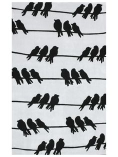 Rugs USA Keno Birds on a Wire Light Grey Rug, doesn't fit in my house, but I do love birds. Hipster Home, Plush Area Rugs, Novelty Rugs, Rugs Usa, Hand Tufted Rugs, Modern Area Rugs, Contemporary Rugs, Contemporary Interior, Grey Rugs