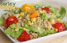 Barley Corn Salad was such a simple and refreshing side dish- I think adding chicken would easily make it a wonderful main dish too!  I drizzled with balsamic vinegar before serving. @allrecipes