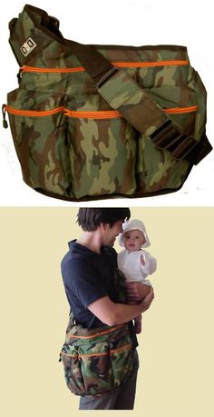"Camo baby bag (For the next one) (so Christian doesn't have to carry something ""girly"")"