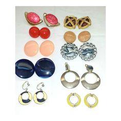 Vintage Clip On Earrings,10 Pair,Screwback Earrings,Destash,Craft Supply,Vintage Earrings,Earring Lot,Vintage Jewelry,Resell,Resale,Earrings by JunkYardBlonde on Etsy