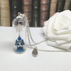The Fairy-tale Castle - princess inspired glass dome necklace.