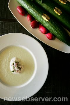 18 Seaboard's Chilled Cucumber Soup is just right for these hot summer days.