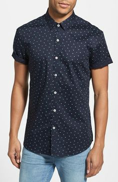 7 Diamonds 'Positive Mind' Short Sleeve Sport Shirt | Nordstrom