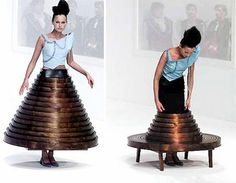 """Hussein Chhalay's Conceptual """"Table Dress"""" For Modern Nomads Blends Design, Politics + Performance Art"""