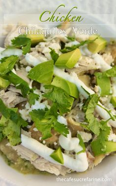 A famous Mexican Restaurant recipe you can make at home! It's just amazing! Chicken Chilaquiles Verde