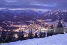 12-12 top view on reutte in the dawn, tirol, austria, winter... #reutte: 12-12 top view on reutte in the dawn, tirol, austria,… #reutte Austria Winter, Tirol Austria, Top View, Mount Everest, Dawn, Mountains, Nature, Travel, Outdoor