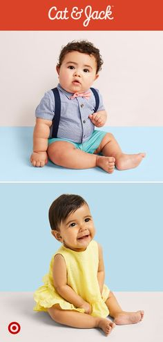 Easter's around the corner! Get your little ones dressed in their Sunday best with baby clothes from Cat & Jack.