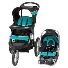 baby and kid stuff: New Baby Trend Expedition Jogger Travel System Tropic 3In1 Stroller Car Seat BUY IT NOW ONLY: $125.0