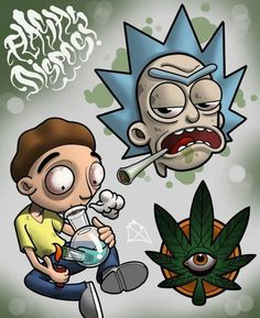 Rick and Morty x 420 – Graffiti World Dope Cartoon Art, Dope Cartoons, Weed Wallpaper, Iphone Wallpaper, Marijuana Art, Rick And Morty Drawing, Rick And Morty Characters, Cartoon Characters, Sidewalk Art