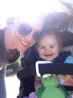 Danneel and Justice out for a stroll. Via Danneel's Twitter page.
