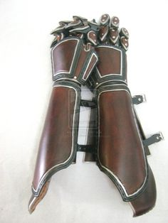 Long Asymmetrical Gauntlets by OfTheGodsBlood