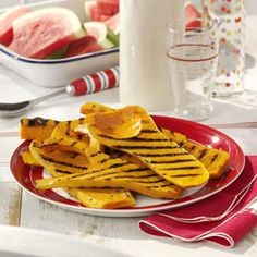 Easy Grilled Squash- tastes great with yellow squash.  Will definitely be using this for all my garden squash!
