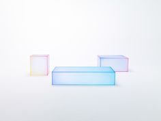 For Salone del Mobile 2015, Nendo debuted a new, ethereal collection of glass tables called soft for Glas Italia. With bright chromatic edges that have a grading, blurred effect, these tables are contradicting the idea of sharply-edged glass.