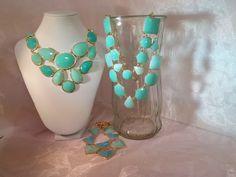 Seafoam green statement necklaces