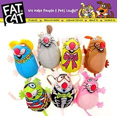 Trolax(TM)Fatcat Pet Little Dog Mice Toy Fat Cat Canvas Toy Colorful Mouse Fat Cat Toy With Catmint Catnip Funny Pet Product -- More info could be found at the image url. (This is an affiliate link and I receive a commission for the sales)
