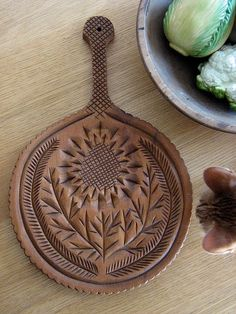Carved thistle by Green Wellies