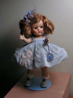 "Vogue 1952 STRUNG 8"" Ginny Doll Hard Plastic MARY LAMB Frolicking Fables HTF #hardplasticstrungVogueGinnydollSLEEPEYE"