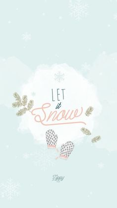 Snow Christmas New Year iPhone Lock Wallpaper Luna PanPins