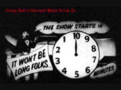 Drive In Intermission Clock snack bar clips