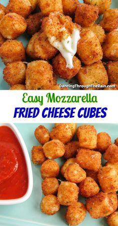 Cheese Fries, Fried Cheese, Yummy Appetizers, Appetizer Recipes, Good Food, Yummy Food, Tasty, Cheesy Recipes, Healthy Snacks
