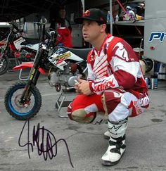 jeremy mcgrath  bike dude was the man in the game before carmichael and bubba stewart..O.G,- Tripple O.G.
