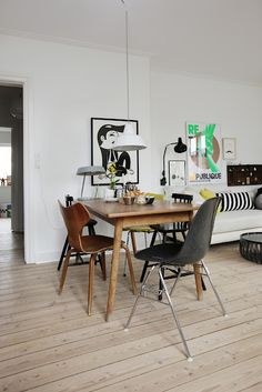 {This home belongs to Anne Louise Breiner. The woman behind BALlab. She lives and works here in this bungalow of 92 squeremeters.}   Styling Rikke Graaf Juel Foto Frederikke Heiberg (Tack till Emmas designblogg där jag hittade bilderna)