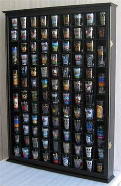 100 Shot Glass Display Case Wall Cabinet Rack Shadow Box, in Collectibles, Barware, Shot Glasses Shot Glass Holder, Glass Holders, Cabin Fever, Large Shadow Box, Wall Curio Cabinet, Liquor Cabinet, Shot Glasses Display, Glass Display Case, Display Cases