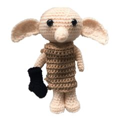Crochet Patterns Design Free Dobby the House Elf Amigurumi Pattern Dobby Harry Potter, Harry Potter Dolls, Harry Potter Crochet, Amigurumi Patterns, Amigurumi Doll, Crochet Ideas, Dobby Est Libre, Yarn Projects, Elf
