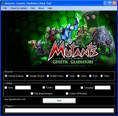 Mutants: Genetic Gladiators Hack Tool Download Today we introduce to you the 100% working Mutants: Genetic Gladiators Hack Tool which add unlimited Gold or Credits to your facebook application in just one second. All you need to do is just to login and press activate hack. We guarantee you that you will be the best …