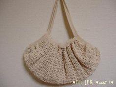たこ糸で編んだグラニーバッグの作り方