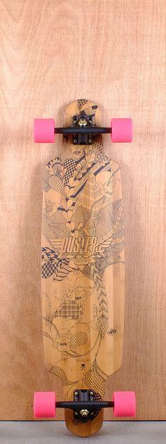 """Dusters Prebuilt 38"""" Lella Longboard Complete Bottom"""