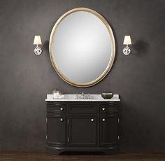 Vanity base - Odéon Single Vanity Sink Restoration Hardware- need white Single Sink Vanity, Vanity Sink, Bath Vanities, Sinks, Vanity Cabinet, Faucets, New Bathroom Ideas, Small Bathroom, Master Bathroom