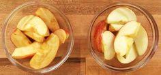 Evita que las manzanas se oxiden