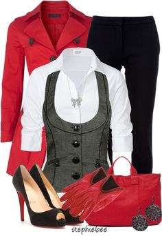 """""""White Button Down"""" by stephiebees on Polyvore"""
