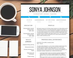 CV Template Modern Resume Resume Template Instant by SuccessTools